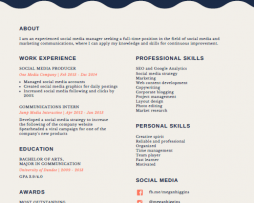 رزومه Resume 14 canva