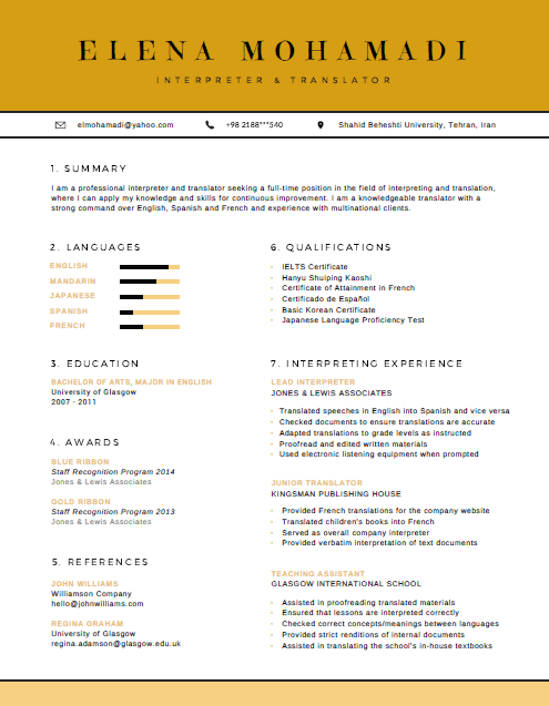 رزومه Resume 15 canva