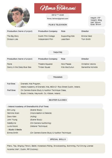 رزومه Resume 5