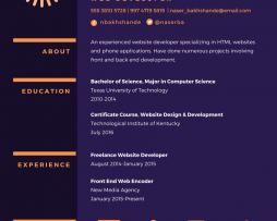 رزومه Resume 18 canva