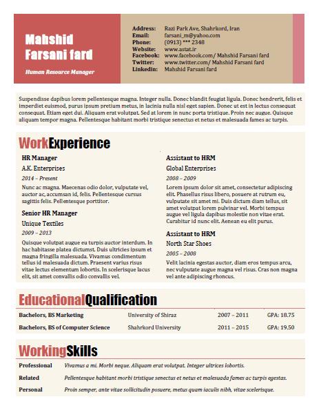 رزومه Resume 2