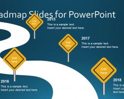 قالب پاورپوینت PowerPoint Roadmap