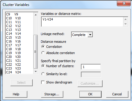 cluster variables Minitab 2 spss-analysis.ir
