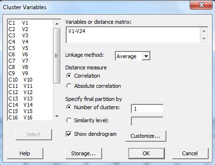 cluster variables Minitab 7 spss-analysis.ir